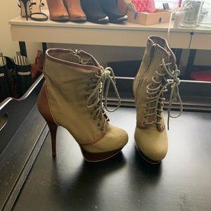 Steve Madden Combat Boot high heel